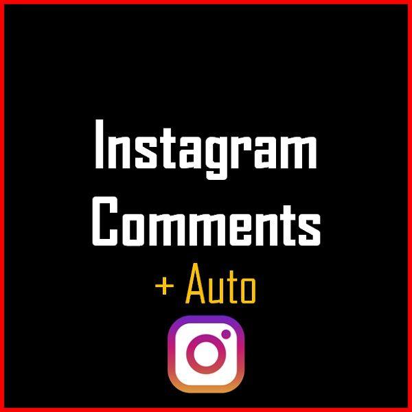 Instagram Comments + Auto Produkt