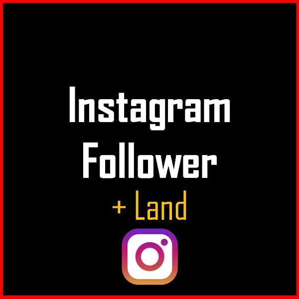 Instagram Follower + Land Produkt