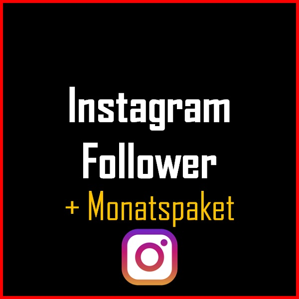 Instagram Follower + Monatspaket Produkt