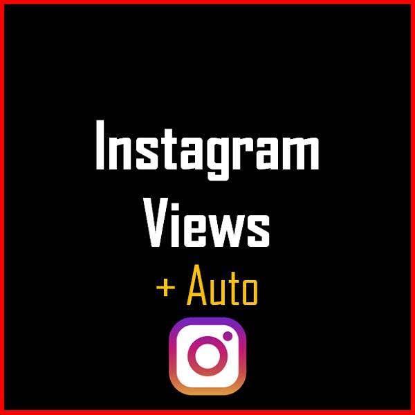 Instagram Views + Auto Produkt