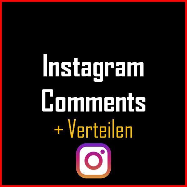 Instagram Comments + Verteilen Produkt